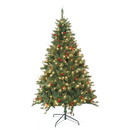Jeco ST71 7 Feet. Pre-Lit Berrywood Pine Artificial Christmas Tree