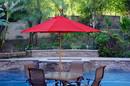 Jeco UBP91-UBF1 9Ft. Wood Market Umbrella - Red