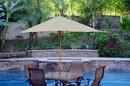 Jeco UBP91-UBF2 9Ft. Wood Market Umbrella - Tan