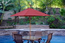 Jeco UBP91-UBF5 9Ft. Wood Market Umbrella - Burgundy