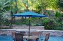 Jeco UBP92-UBF96 9Ft. Aluminum Patio Market Umbrella Tilt W/ Crank - Turquoise Fabric/Black Pole
