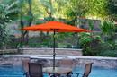 Jeco UBP92-UBF99 9Ft. Aluminum Patio Market Umbrella Tilt W/ Crank - Orange Fabric/Black Pole