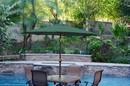 Jeco UBP93-UBF94 9Ft. Aluminum Patio Market Umbrella Tilt W/ Crank - Green Fabric/Champagne Pole