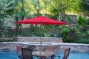 Jeco UBP94-UBF91 9Ft. Aluminum Patio Market Umbrella Tilt W/ Crank - Red Fabric/Bronze Pole