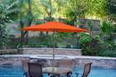 Jeco UBP94-UBF99 9Ft. Aluminum Patio Market Umbrella Tilt W/ Crank - Orange Fabric/Bronze Pole