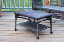 Jeco W00202-ST Espresso Wicker Patio Furniture Coffee Table