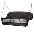 Jeco W00202S-A Espresso Resin Wicker Porch Swing