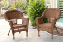 Jeco W00205-C_2 Honey Wicker Chair - Set of 2