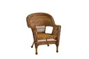 Jeco W00205-C_4 Honey Wicker Chair - Set of 4