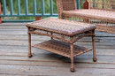 Jeco W00205-T Honey Wicker Patio Furniture Coffee Table