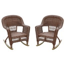 Jeco W00205R-C_2 Honey Rocker Wicker Chair -  Set of 2
