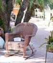 Jeco W00205R-C Honey Rocker Wicker Chair