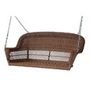 Jeco W00205S-C Honey Resin Wicker Porch Swing