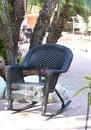 Jeco W00207R-D Black Rocker Wicker Chair