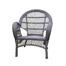 Jeco W00208-C Santa Maria Espresso Wicker Chair
