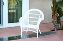 Jeco W00209-C Santa Maria White Wicker Chair