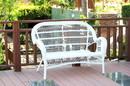 Jeco W00209-L Santa Maria White Wicker Patio Love Seat