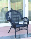 Jeco W00211-C Santa Maria Black Wicker Chair
