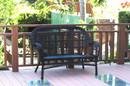 Jeco W00211-L Santa Maria Black Wicker Patio Love Seat