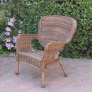 Jeco W00212-C Windsor Honey Resin Wicker Chair