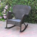 Jeco W00215-R Windsor Espresso Resin Wicker Rocker Chair