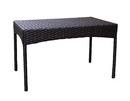Jeco W00402-T Espresso Resin Wicker Clark Coffee Table