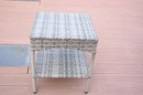 Jeco W00402G-ST Grey Resin Clark Wicker Clark Side Table(Kd)