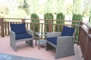 Jeco W00405-3S-FS011 Mirabelle 3 Pieces Bistro Set With 2 Inch Midnight Blue Cushion