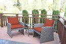 Jeco W00405-3S-FS018 Mirabelle 3 Pieces Bistro Set With 2 Inch Brick Red Cushion