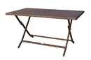 Jeco W00501-BT Cafe Folding Buffet Wicker Table