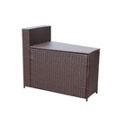 Jeco W00502-ST Resin Wicker Cartagena Curved Modular Sectional Storage Side Table