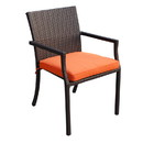 Jeco W501-FS016 Orange Cafe Curved Stacking Chairs Cushion