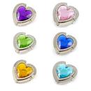 TOPTIE Hand Bag Purse Hook Hanger, 6 Pcs Assorted Colors Crystal Hearts