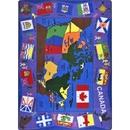 Joy Carpets 1455 Flags of Canada Rug
