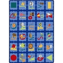 Joy Carpets 1628 Rug, Alphabet Blues