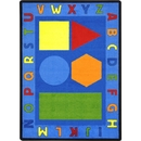 Joy Carpets 1670 Alphabet Shapes Rug