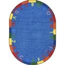 Joy Carpets 1674 Alphabet Braid Rug