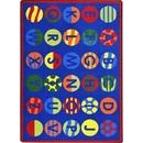 Joy Carpets 1802 Alphabet Patterns Rug