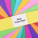 Muka Crepe Paper 50 Pcs Craft Paper Assortment, 40