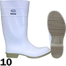 J.Racenstein DIF81012-10 Boot PVC White Size 10