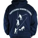 Navy Sweatshirt 4 Dudes w/Hood Large