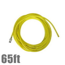Unger NL20G Hose 65ft w/Adaptor nLite Yellow
