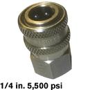 8.709-488.0 Plug 1/4 FPT SS 5500psi Hansen