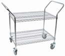 Johnson-Rose 32436 Wire Cart, Chrome, Heavy Duty Two (2) 24 X 36