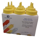 Johnson-Rose 69126 Squeeze Bottle-Wide Mouth Pack - 16 Oz Yellow, Six (6) Per Pack. Plastic