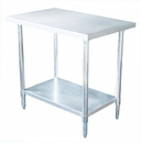 Johnson-Rose 82448 Work Table, #430 Stainless Steel (#4 Finish), 24 X 48
