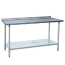 Johnson-Rose 82449 Worktable, With 1-1/2 Rear Up-Turn, #430 Stainless Steel (#4 Finish), 24