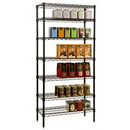 (4 Pcs @ $29.93 Pcs) Focus Foodservice FF2442BK Black Epoxy Shelves