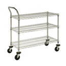 Focus Foodservice FFC18363C 3 shelf wire cart 18