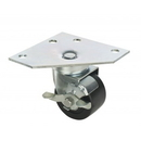 Focus Foodservice FPCTR3 3 Triangle Plate Casters W/Brks, Set of 4